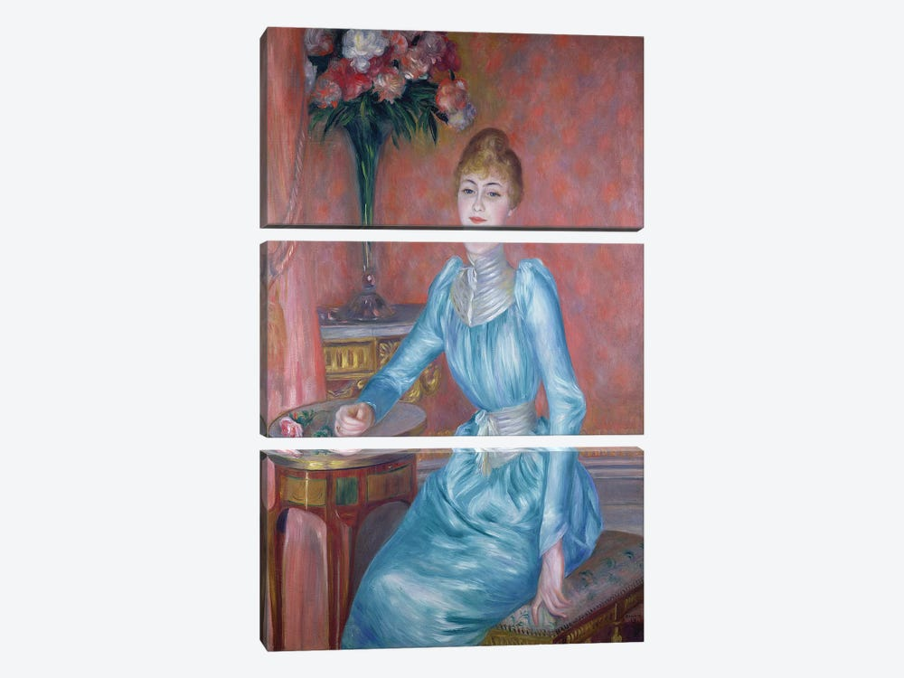 Madame de Bonnieres, 1889  by Pierre-Auguste Renoir 3-piece Canvas Print