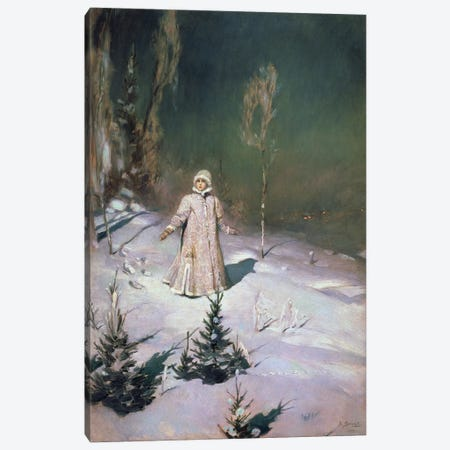 Snow Maiden, 1899  Canvas Print #BMN2257} by Victor Mikhailovich Vasnetsov Canvas Wall Art