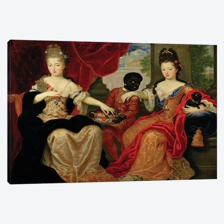 Portrait of Francoise-Marie de Bourbon  Canvas Print #BMN2259} by Philippe Vignon Canvas Art Print