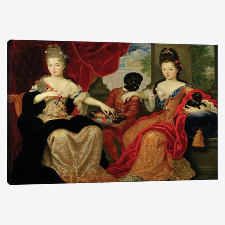 Portrait of Francoise-Marie de Bourbon  Canvas Print #BMN2259} by Philippe Vignon Canvas Art Print