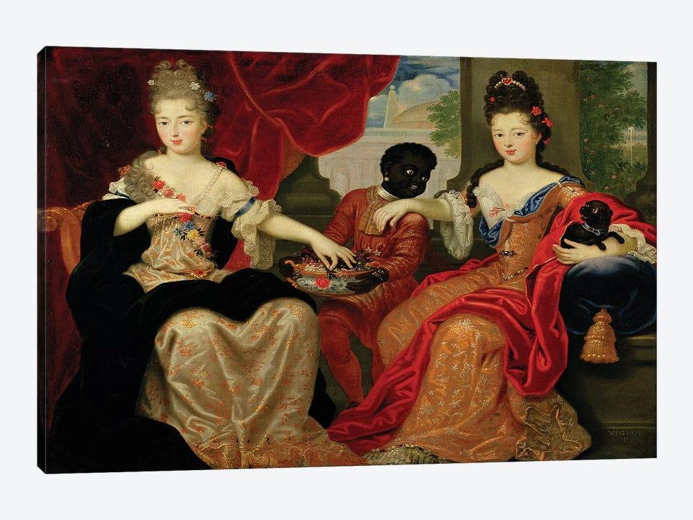 Portrait of Francoise-Marie de Bourbon  by Philippe Vignon 1-piece Canvas Art