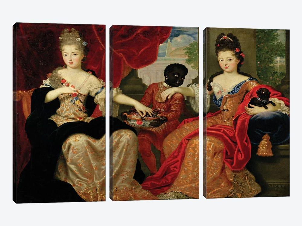 Portrait of Francoise-Marie de Bourbon  by Philippe Vignon 3-piece Canvas Artwork