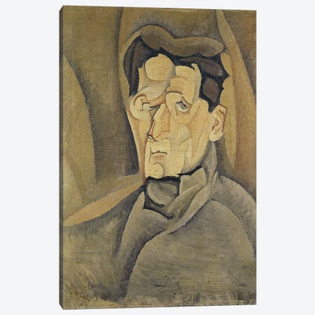 Portrait of Maurice Raynal  Canvas Print #BMN2260} by Juan Gris Canvas Wall Art