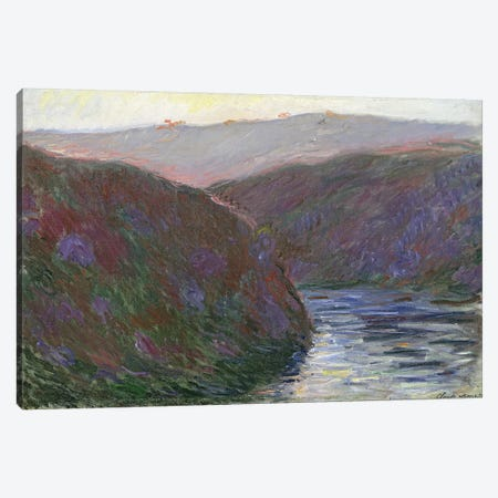 The Creuse Valley, Evening Effect, 1889  Canvas Print #BMN2261} by Claude Monet Canvas Art