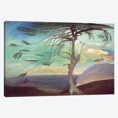 The Solitary Cedar, 1907  Canvas Print #BMN2264} by Tivador Csontvary Kosztka Canvas Art Print