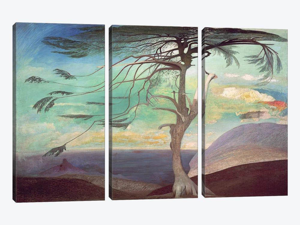 The Solitary Cedar, 1907  by Tivador Csontvary Kosztka 3-piece Canvas Wall Art