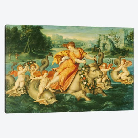 The Rape of Europa  Canvas Print #BMN2267} by French School Art Print