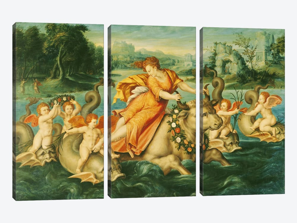 The Rape of Europa  by French School 3-piece Art Print
