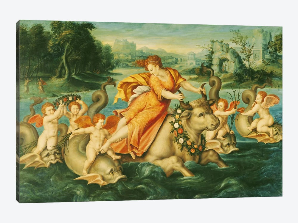 The Rape of Europa  by French School 1-piece Canvas Print