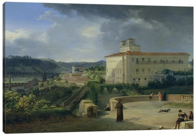 View of the Villa Medici, Rome, 1813  Canvas Art Print