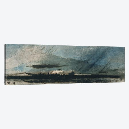 Town at Dusk  Canvas Print #BMN2273} by Victor Hugo Canvas Print