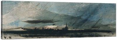 Town at Dusk  Canvas Art Print