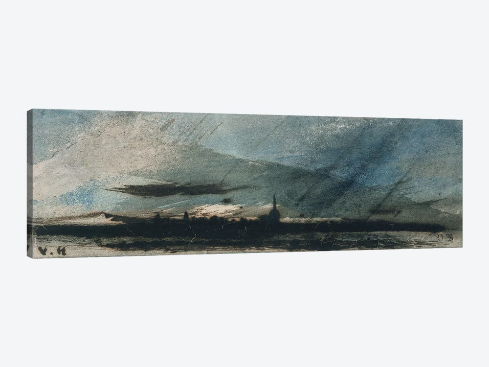 Town at Dusk  by Victor Hugo 1-piece Canvas Artwork
