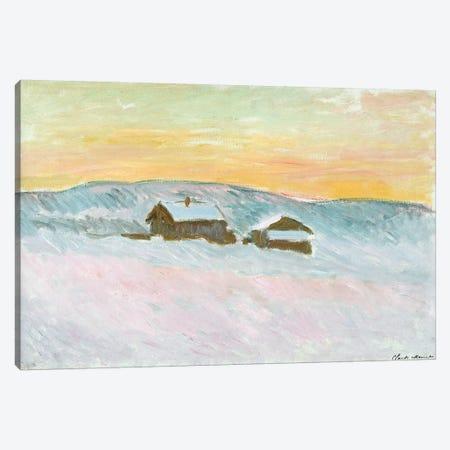 Norwegian Landscape, Blue Houses, 1895  Canvas Print #BMN2275} by Claude Monet Canvas Artwork