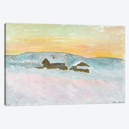 Norwegian Landscape, Blue Houses, 1895  Canvas Print #BMN2275} by Claude Monet Canvas Artwork