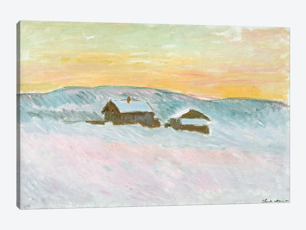 Norwegian Landscape, Blue Houses, 1895  by Claude Monet 1-piece Canvas Art