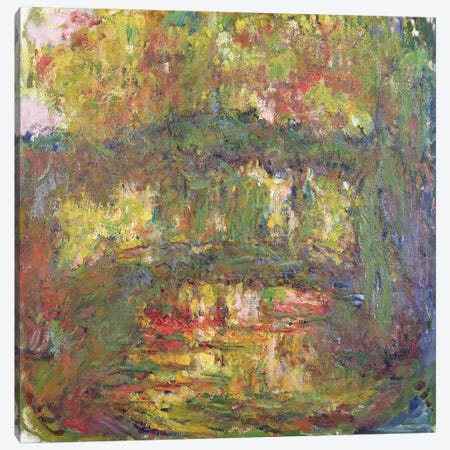 The Japanese Bridge at Giverny, 1918-24  Canvas Print #BMN2276} by Claude Monet Canvas Artwork