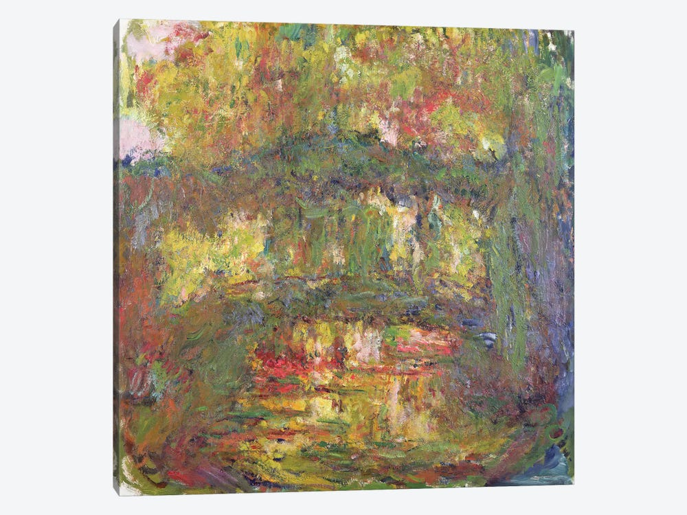 The Japanese Bridge at Giverny, 1918-24  by Claude Monet 1-piece Canvas Print