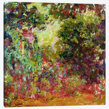 The Artist's House from the Rose Garden, 1922-24  Canvas Print #BMN2277} by Claude Monet Canvas Wall Art