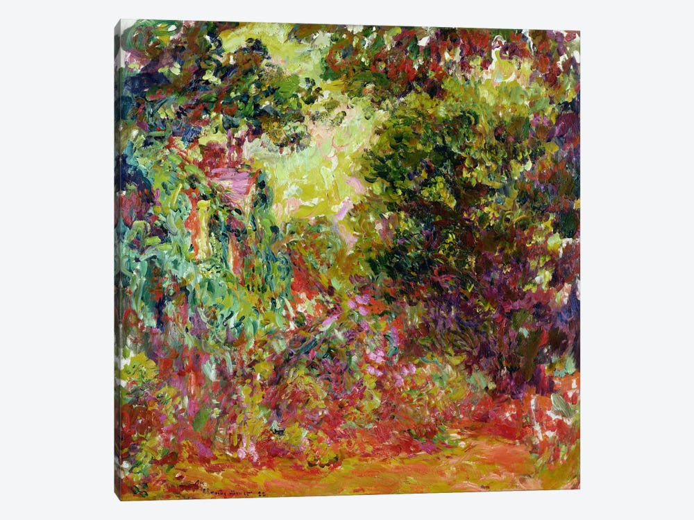 The Artist's House from the Rose Garden, 1922-24  by Claude Monet 1-piece Canvas Art