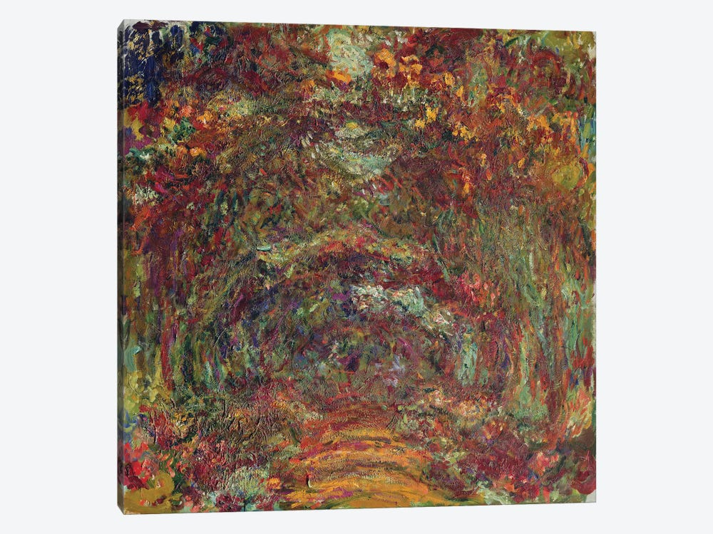 The Rose Path, Giverny, 1920-22  by Claude Monet 1-piece Canvas Print
