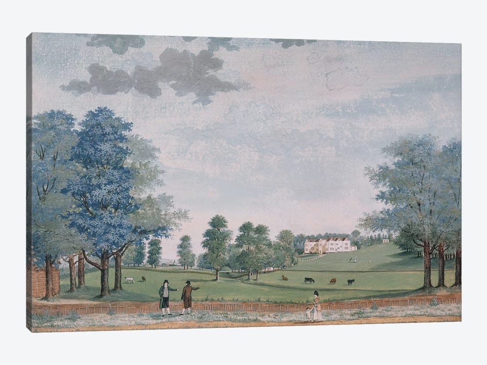 The Great House and Park at Chawton, c.1780  by Adam Callander 1-piece Canvas Print