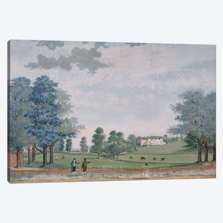 The Great House and Park at Chawton, c.1780  Canvas Print #BMN227} by Adam Callander Canvas Art Print