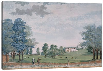 The Great House and Park at Chawton, c.1780  Canvas Art Print