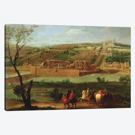 View of the Marly Machine and the Aqueduct at Louveciennes, 1722  Canvas Print #BMN2280} by Pierre-Denis Martin Canvas Artwork
