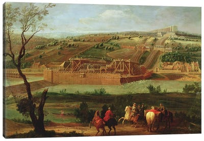 View of the Marly Machine and the Aqueduct at Louveciennes, 1722  Canvas Art Print