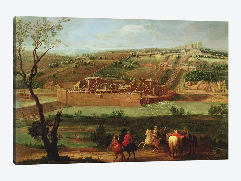 View of the Marly Machine and the Aqueduct at Louveciennes, 1722  by Pierre-Denis Martin 1-piece Canvas Art