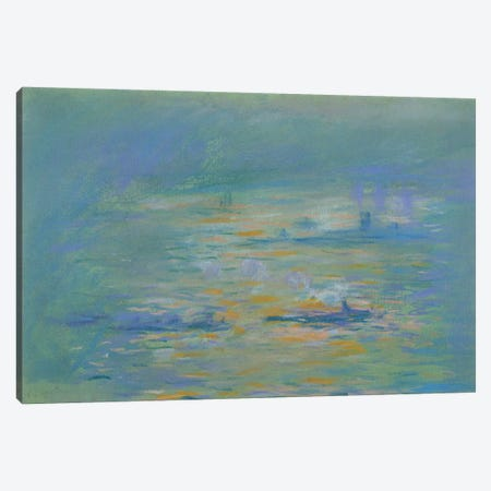 Tugboats on the River Thames  Canvas Print #BMN2281} by Claude Monet Canvas Artwork