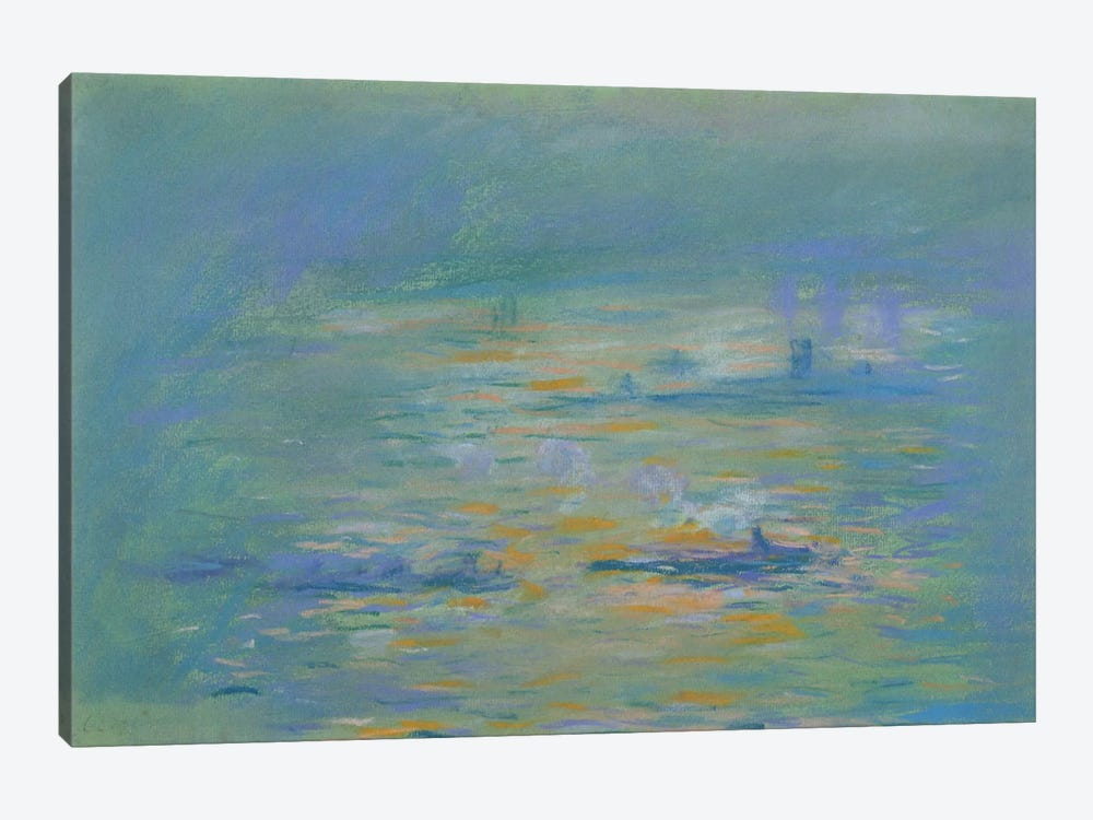Tugboats on the River Thames  by Claude Monet 1-piece Art Print