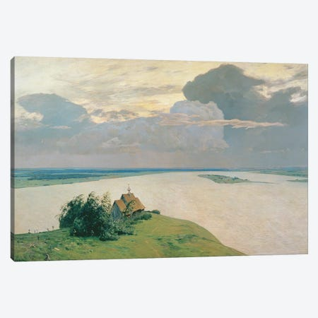 Above the Eternal Peace, 1894  Canvas Print #BMN2282} by Isaak Ilyich Levitan Canvas Artwork