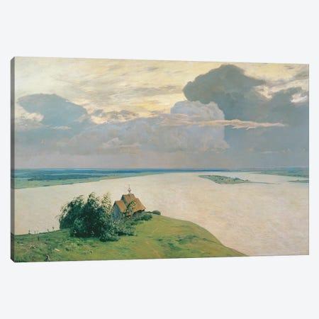 Above the Eternal Peace, 1894  Canvas Print #BMN2282} by Isaak Ilyich Levitan Canvas Artwork