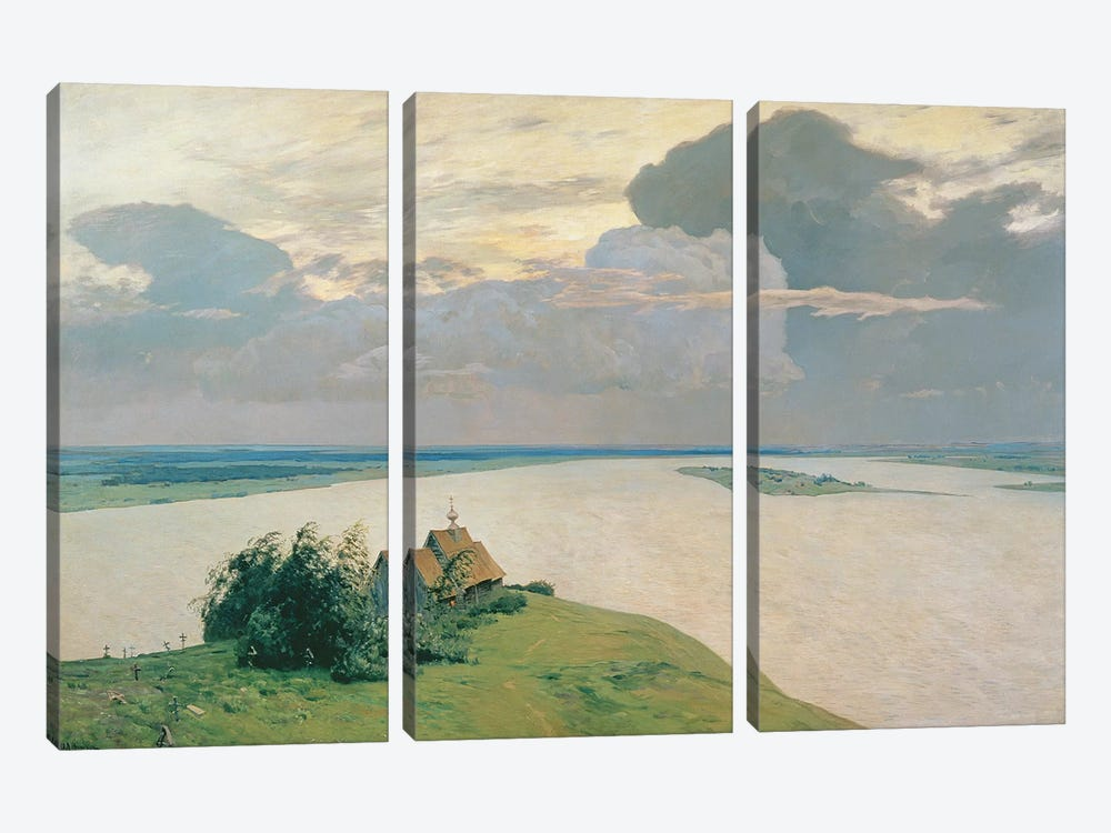 Above the Eternal Peace, 1894  by Isaak Ilyich Levitan 3-piece Canvas Artwork