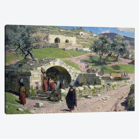 The Virgin Spring in Nazareth, 1882  Canvas Print #BMN2283} by Vasilij Dmitrievich Polenov Canvas Wall Art