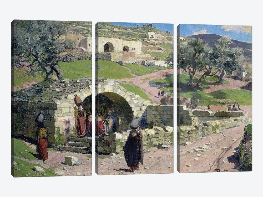 The Virgin Spring in Nazareth, 1882  by Vasilij Dmitrievich Polenov 3-piece Canvas Art Print