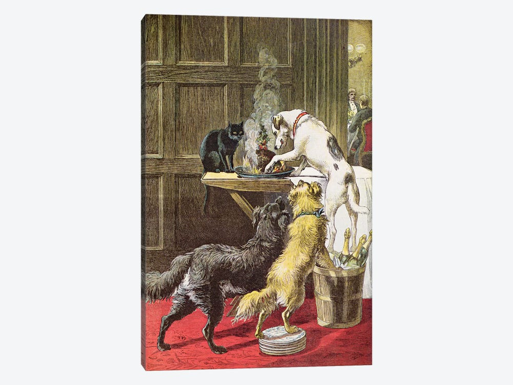 Christmas Day: The Uninvited  by Samuel Edmund Waller 1-piece Canvas Wall Art