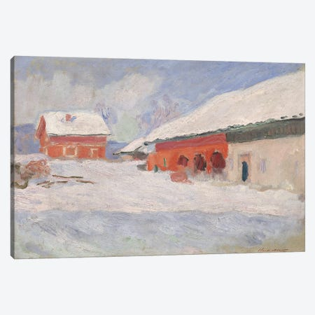 Norway, Red Houses at Bjornegaard, 1895  Canvas Print #BMN2285} by Claude Monet Canvas Art Print