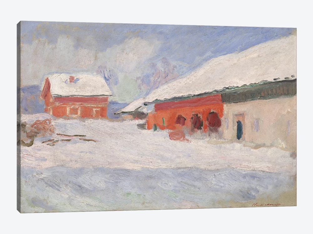Norway, Red Houses at Bjornegaard, 1895  by Claude Monet 1-piece Canvas Art Print