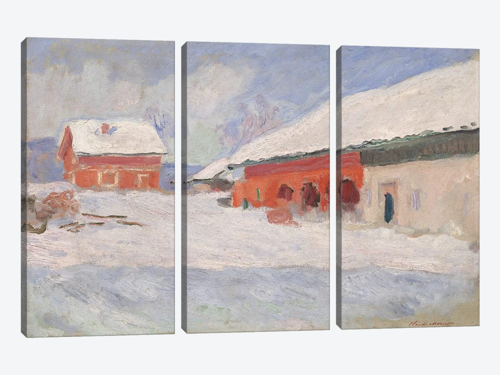 Norway, Red Houses at Bjornegaard, 1895  3-piece Art Print