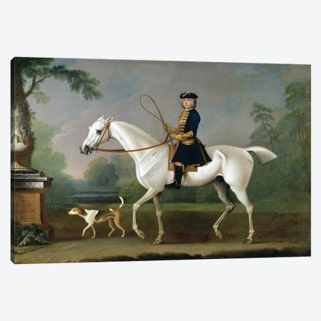 Sir Roger Burgoyne Riding 'Badger', 1740  3-Piece Canvas #BMN2287} by James Seymour Canvas Art Print