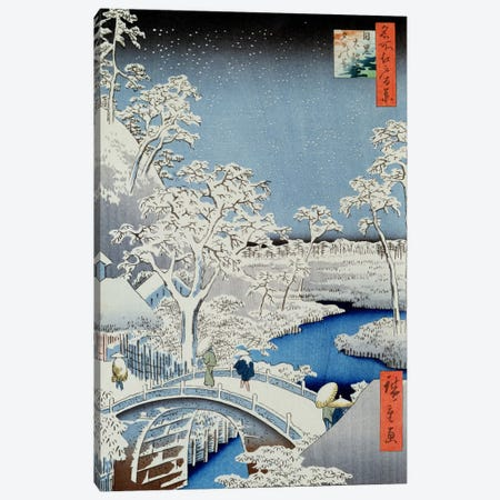 Winter Landscape  Canvas Print #BMN2289} by Japanese School Canvas Wall Art