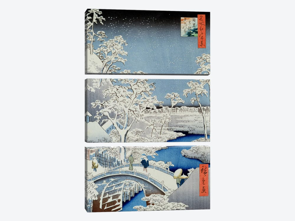 Winter Landscape by Japanese School 3-piece Art Print