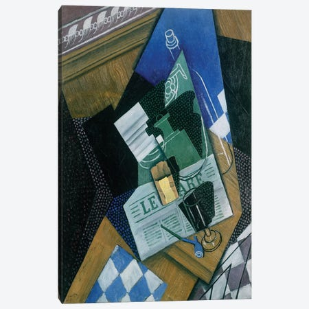 Still Life with Water Bottle, Bottle and Fruit Dish, 1915  Canvas Print #BMN2292} by Juan Gris Canvas Art Print