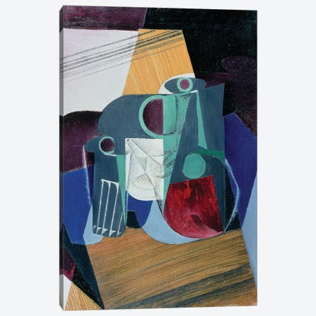Wine Jug and Glass, 1916  Canvas Print #BMN2293} by Juan Gris Canvas Print
