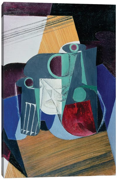 Wine Jug and Glass, 1916  Canvas Art Print
