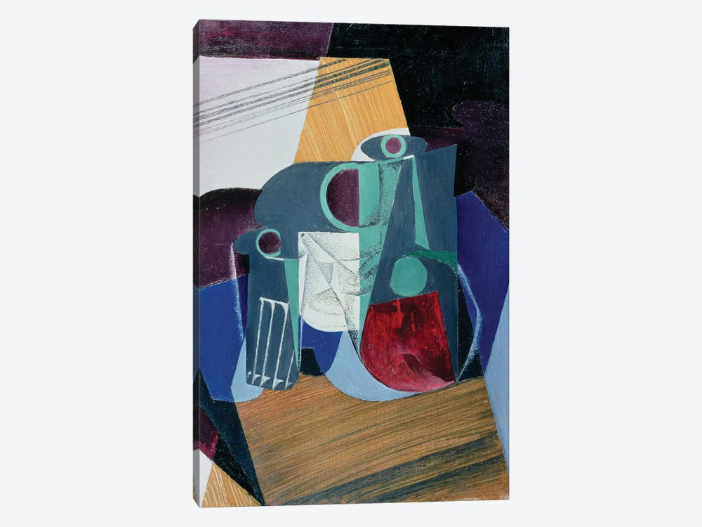 Wine Jug and Glass, 1916  by Juan Gris 1-piece Canvas Art