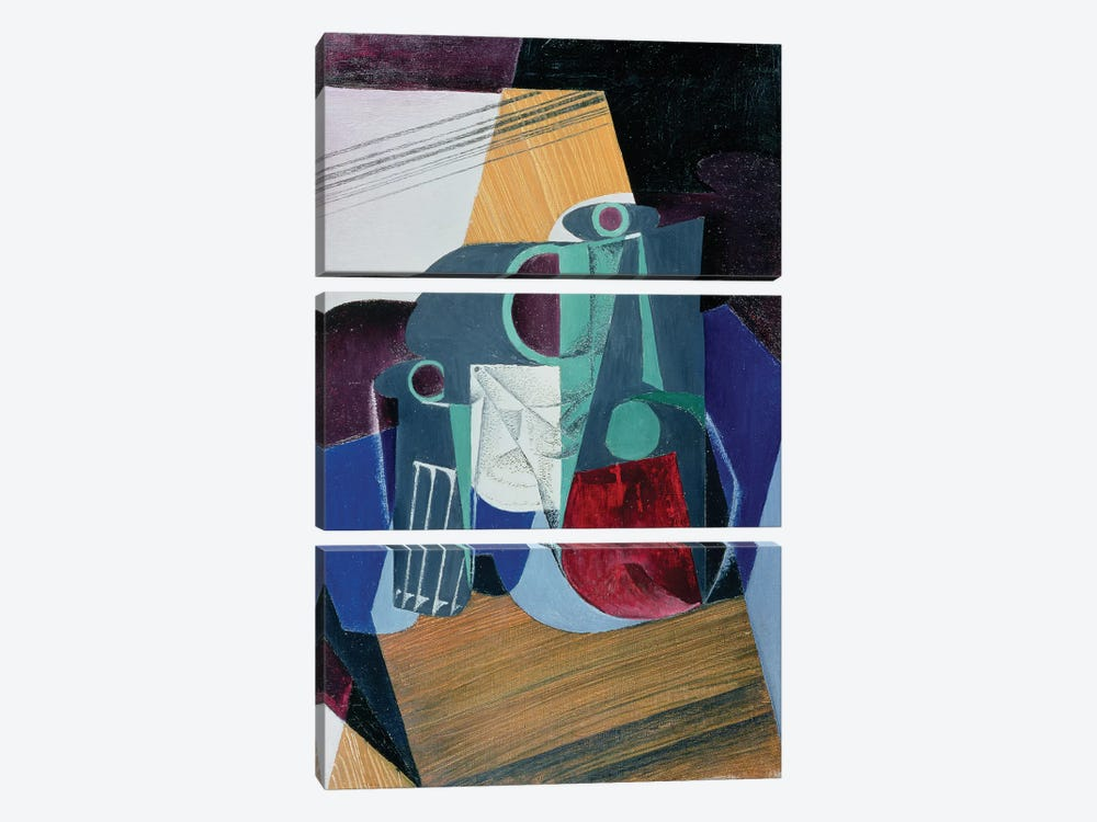Wine Jug and Glass, 1916  by Juan Gris 3-piece Canvas Wall Art